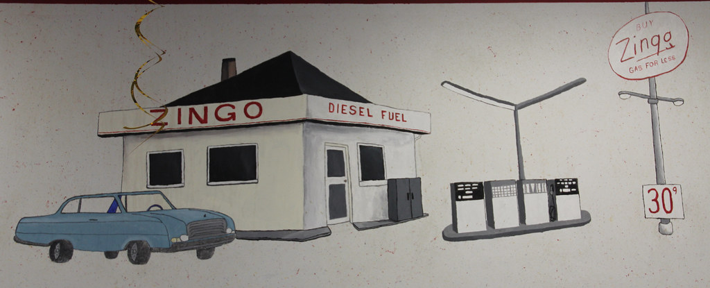 Knox indiana bp amoco zingo express gas station mural z for Cleveland gas station mural