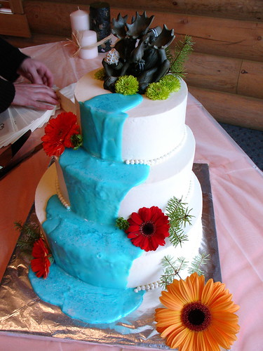 wedding cakes with waterfalls waterfall wedding cake moose contemplate their in 26134