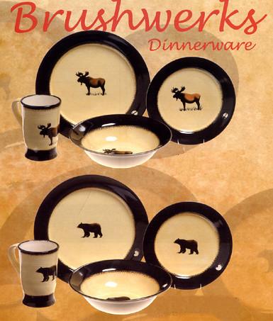 ... Brushwerks Bear u0026 Moose Dinneware | by sonomagifts & Brushwerks Bear u0026 Moose Dinneware | Cabin u0026 lodge dinnerwareu2026 | Flickr