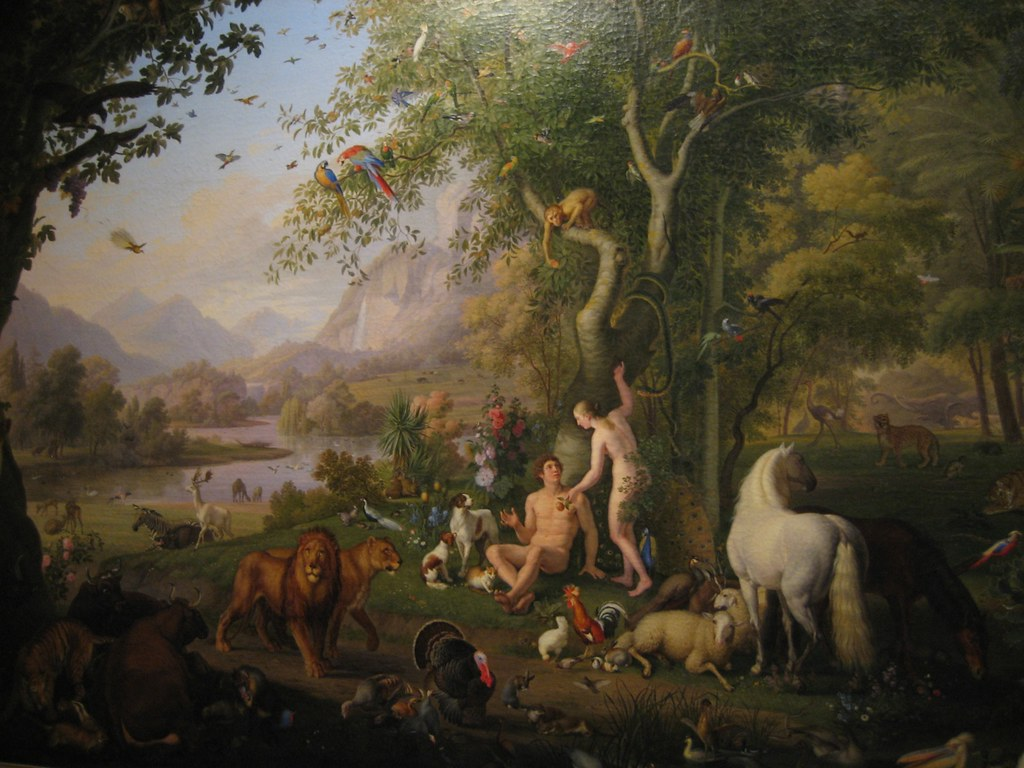 Image result for eden garden adam eve painting