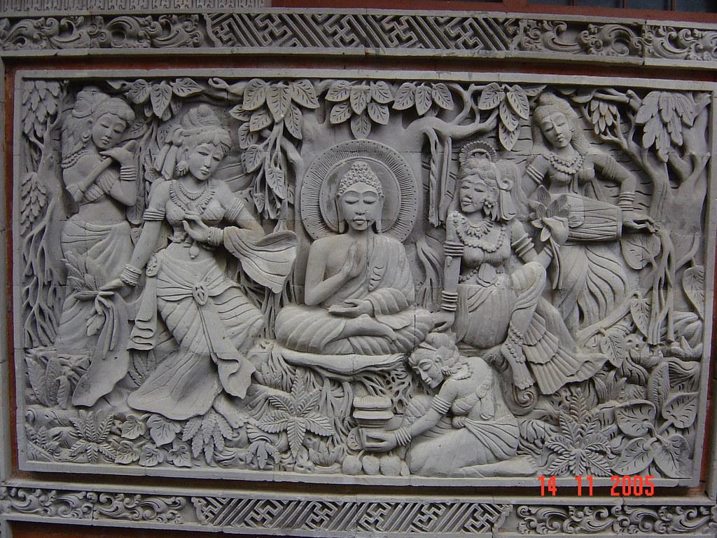 Stone carvings brahma vihara arama banjar bali ind