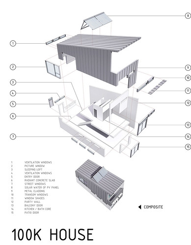 Exploded view of 100k house exploded view detailing all for Build a house for 100k