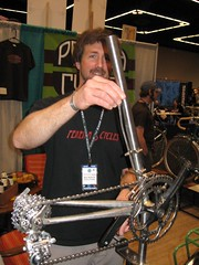 handmade derailleur with rod shifter | by Richard Masoner / Cyclelicious