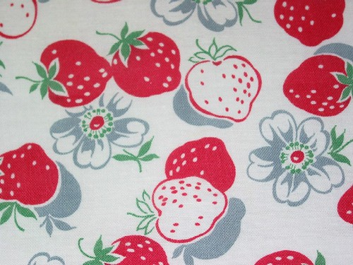 Strawberry Feedsack | by Niesz Vintage Fabric