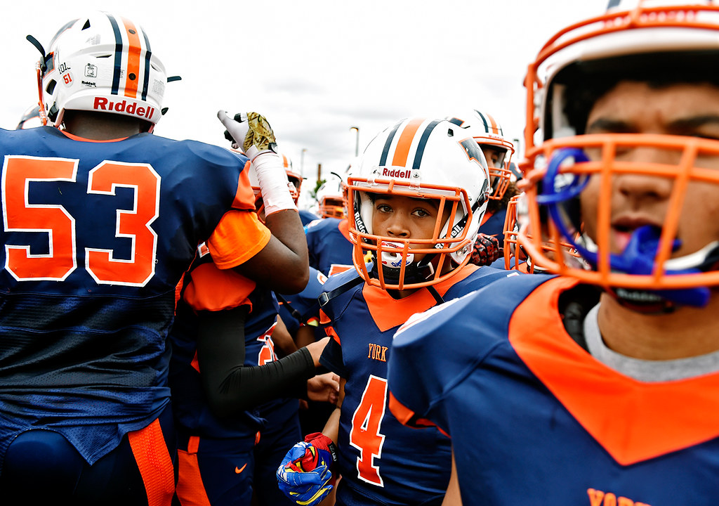 © 2016 by The York Daily Record/Sunday News. William Penn football players return to the field for the second half of a YAIAA football game Saturday, Sept. 24, 2016, at Small Field in York.