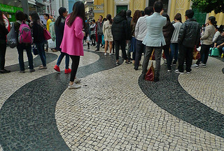 Macau - Senado Square tiled walkway