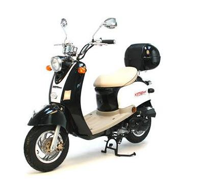 50cc retro scooter black and white this is the 50cc. Black Bedroom Furniture Sets. Home Design Ideas