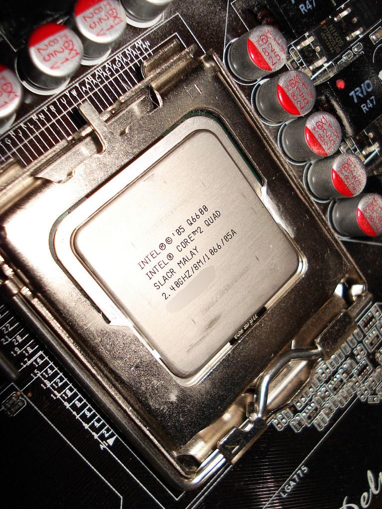 Intel Core 2 Quad Q6600 Go Ms Vista Ult 64 En Xp Pro 32 Flickr Processor By Michplay