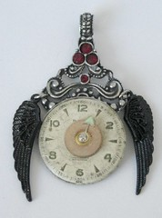 The Black Wings of Time: a steampunk Brooch. no longer available | by ClockworkZero