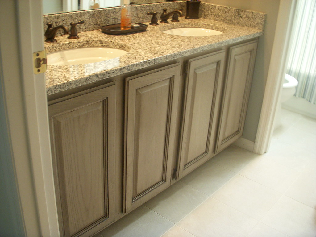 taupe cabinets with glaze oak cabinets painted with. Black Bedroom Furniture Sets. Home Design Ideas