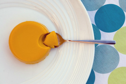 "Pumpkin and Coconut Milk ""Panna Cotta"" 