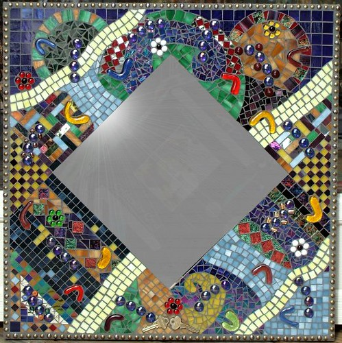 Mosaic mirror my first mosaic mirror size is 2x2 for Mosaic mirror