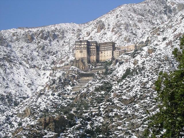 Snow covered monastery in Greece   Tim Gallagher   Flickr
