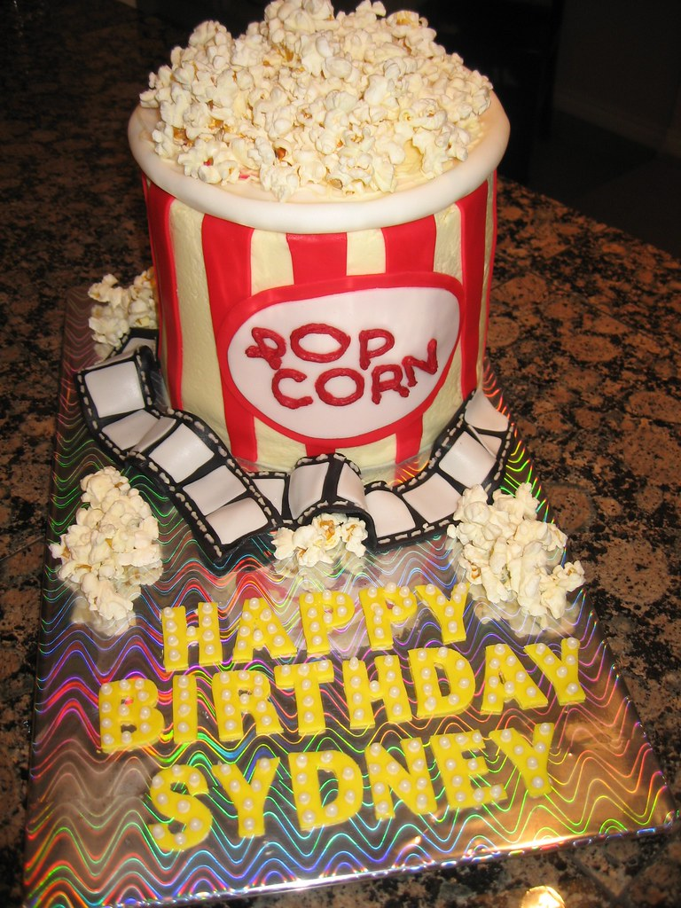 Movie Theater Cake Movie Theater Birthday Party All