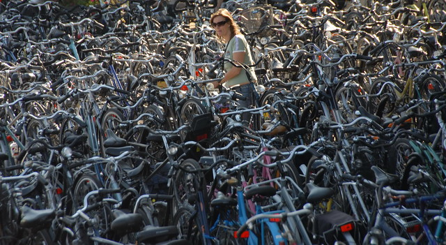 Je fiets terugvinden na een dagje knallen in de bieb is een leuke afsluiter