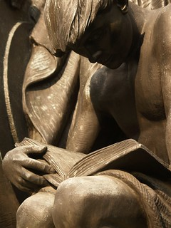 Young Man Reading: Detail Of Robert I. Aitken's 1933 Bronze Samuel Gompers Memorial (Washington, DC) | by takomabibelot