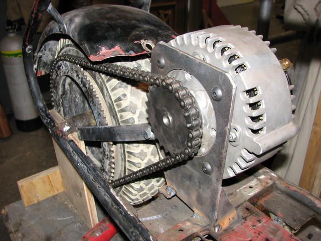 Whirlygig etek motor i 39 ve welded a fixed mount for the for Etek r brushed dc electric motor