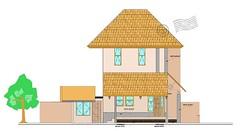 Arsitek Rumah Gambar Desain Rumah Dengan Aksen Atap Tipe K ...