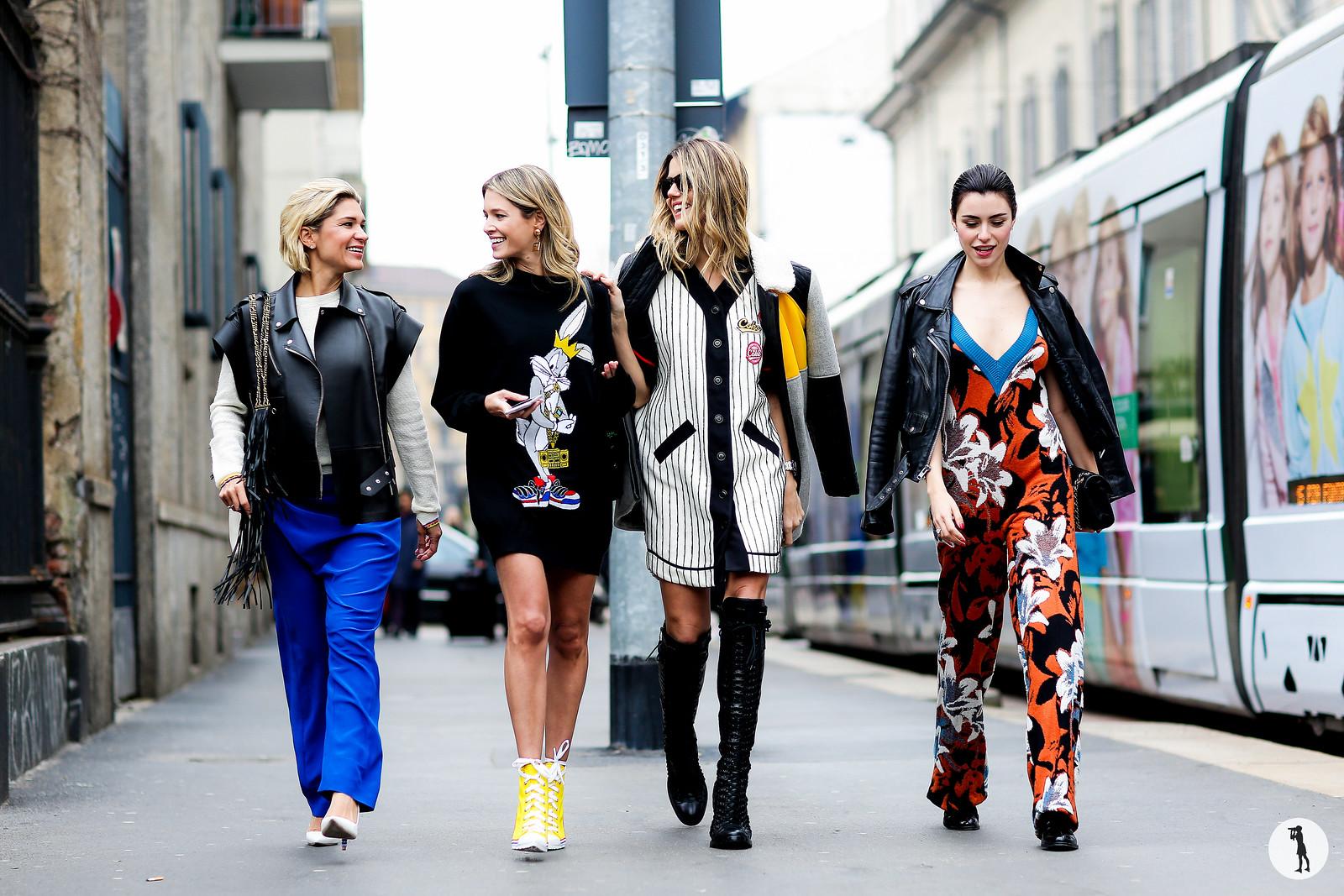 Juliana Santos, Helena Bordon, Martha Graeff and Lise Grendene - Milan Fashion Week RDT FW15-16 (1)