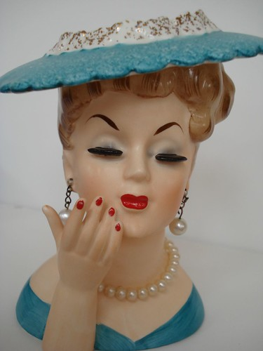Vintage Lady Head Vase From Second Chance Suzanne Duda