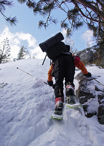 Dave Ascending A Steep Snow Covered Slab | by Mountain Visions