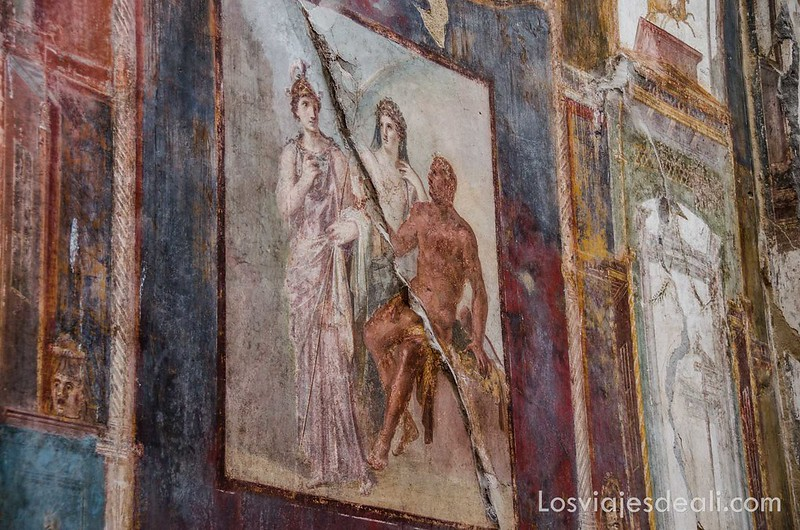 visita a Herculano frescos