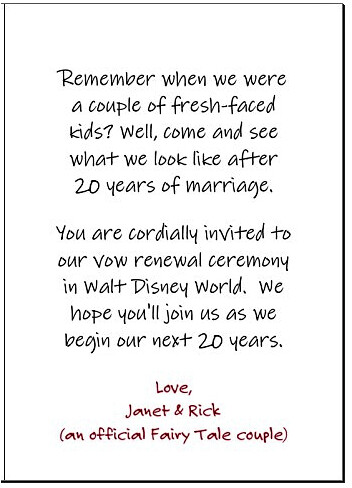 Vow Renewal Invitation Sentiment This Is The