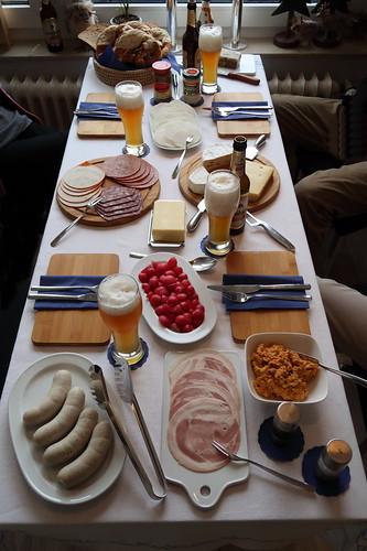 Bayerische Brotzeit (Tischbild)