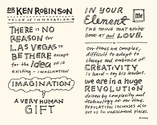 Chick-Fil-A Leadercast Sketchnotes 13-14 - Sir Ken Robinson | by Mike Rohde