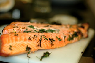 broiled salmon | by sassyradish