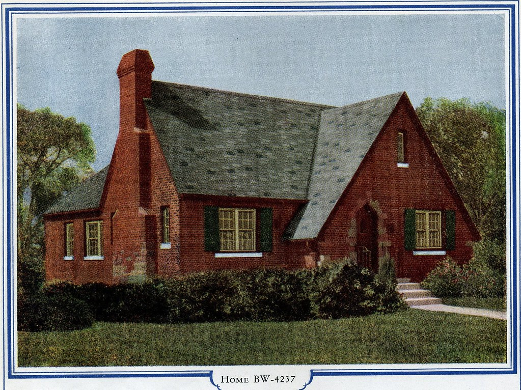 Brick english cottage by bilt well bw 4237 see more for Brick cottage house plans