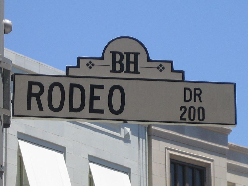 Rodeo Drive Sign Jon Lee Clark Flickr