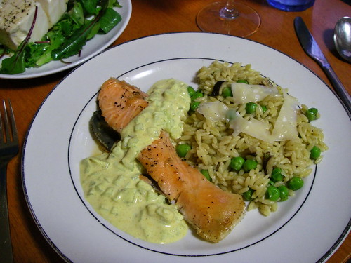 Salmon with curry sauce | by Blue Lotus