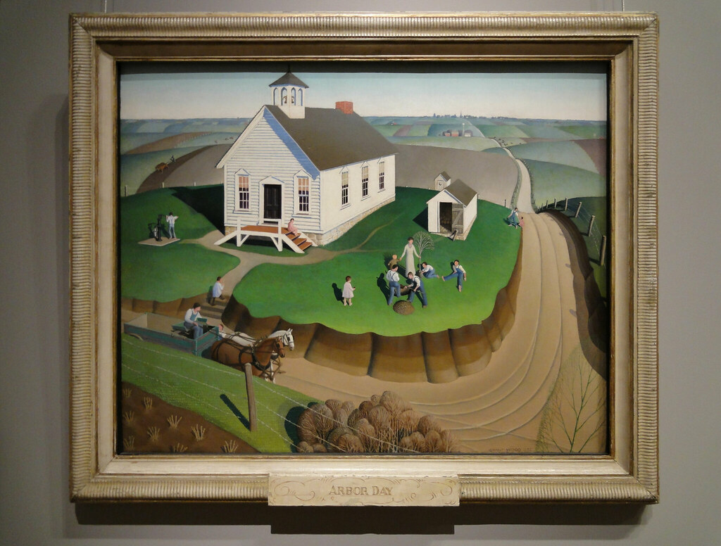 Grant Wood: Arbor Day (1932) | Jim Forest | Flickr