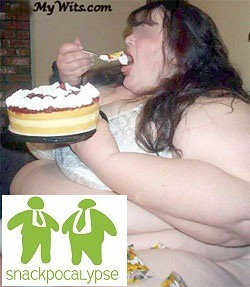 Fat Girl Eating A Cake