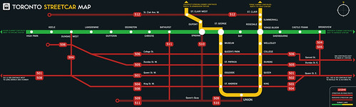 ttc streetcar map 2008 | by Spacing Magazine