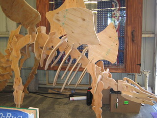 Bob the Stegosaurus, in the Shop Bot Shed | by Skatie Hawkins