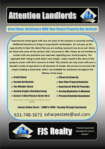 FJS - LandLord Ad -JPEG | by FJSRealty