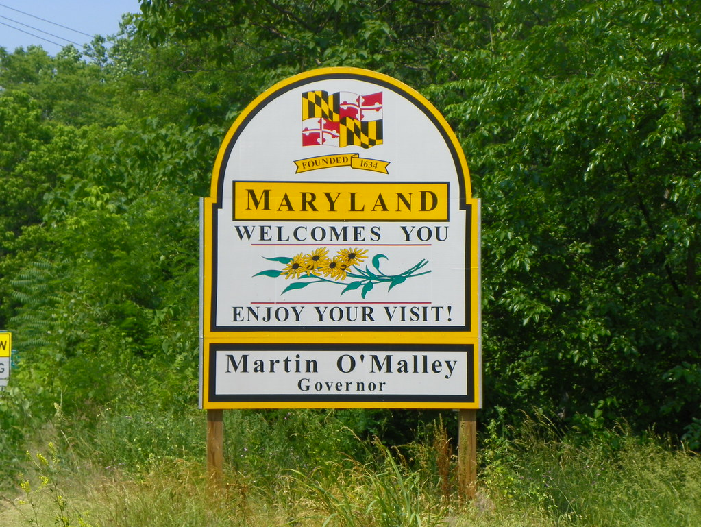 Maryland Welcome Sign Jefferson County Maryland Flickr