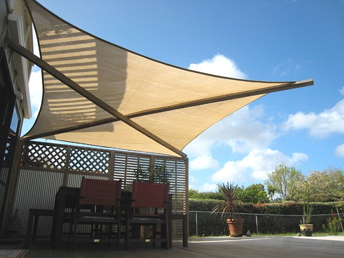 Shade Sail After A Few Weeks Experimenting With Various