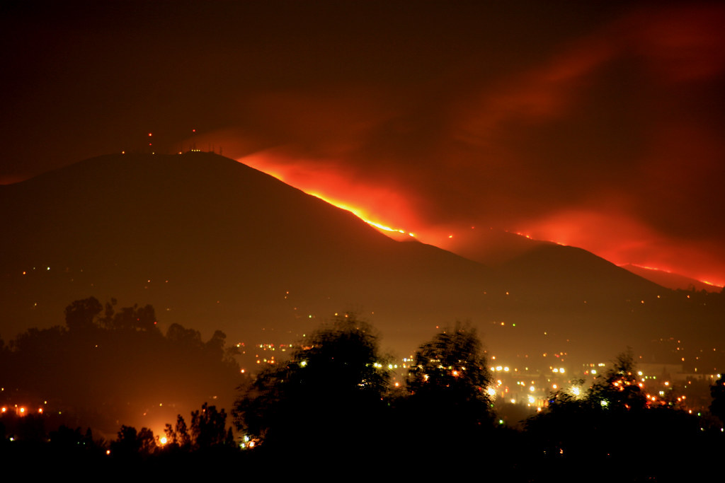 Mt San Miguel Is On Fire San Diego County Wildfires 2007