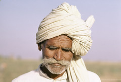 Portrait man with traditional hat. India. | by World Bank Photo Collection