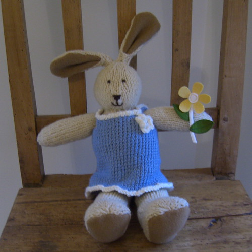 Knitted Rabbit - Girl | by www.rachaelrabbit.blogspot.com