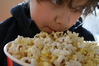 my boy, with popcorn | by massdistraction