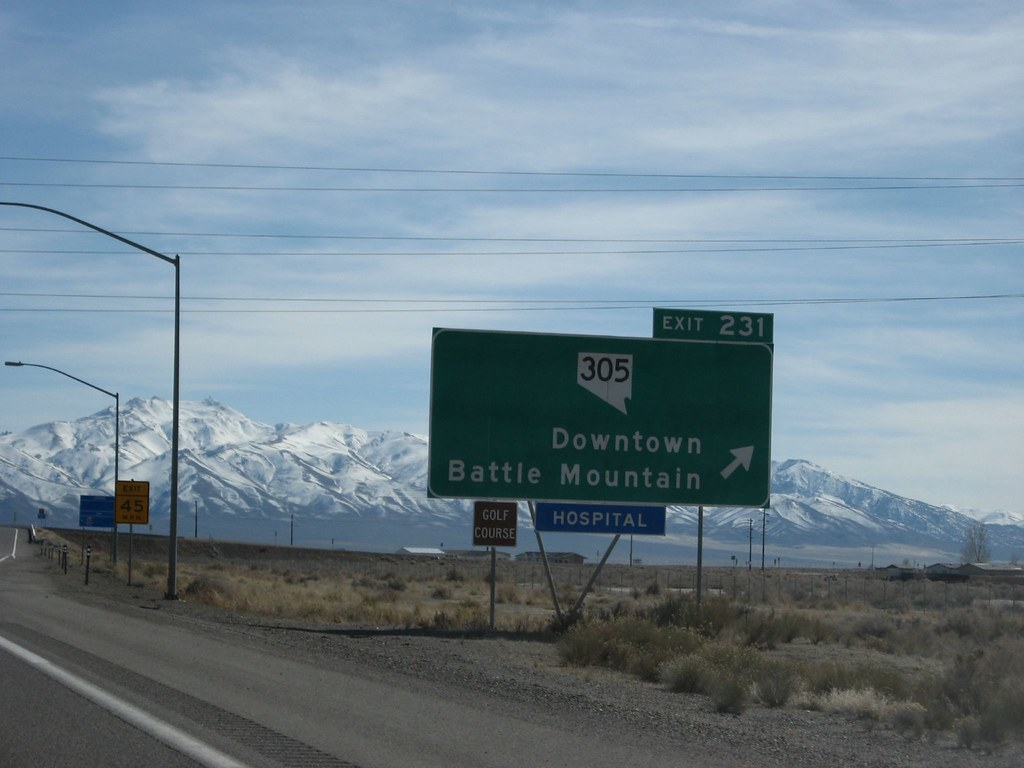 exit 231  downtown battle mountain  interstate 80  nevada