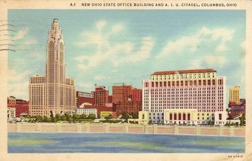 New Ohio State Office Building And A I U Citadel Columbu