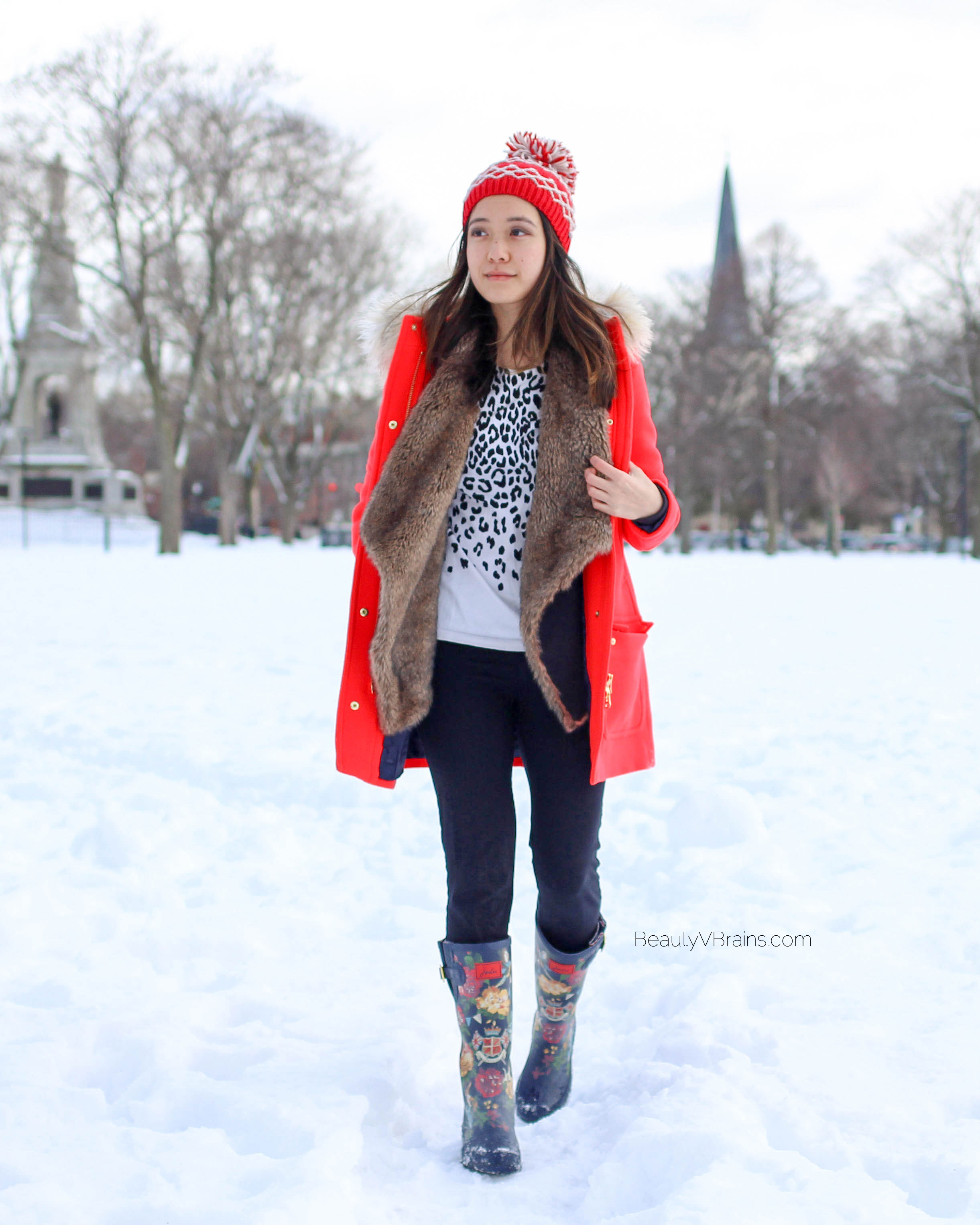 J. Crew stadium cloth chateau parka