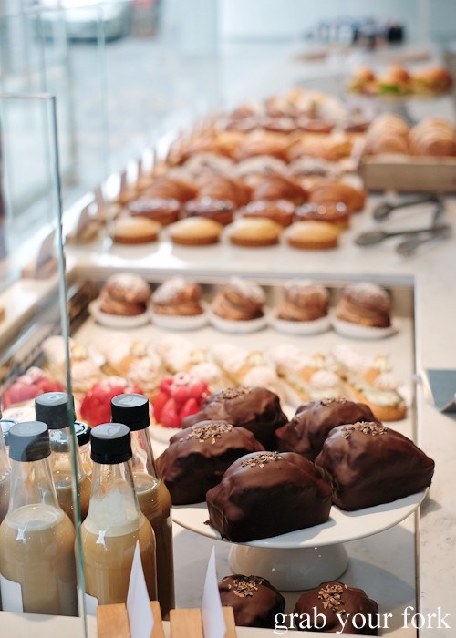 Sweet pastries at Pigeon Whole Bakers in Hobart Tasmania
