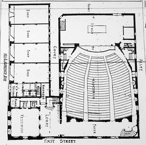 First Floor Plan   First floor plan of the Orpheum Theatre ...