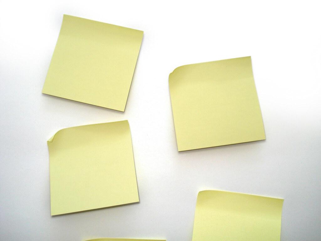 Yellow post-it notes | www.efekt.net | allispossible.org ...